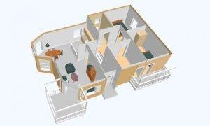 Montažna kuća Maker Magda-presek