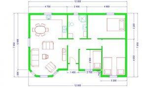 Montažna kuća Maker Majami -osnova