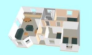 Montažna kuća Maker Majami -presek