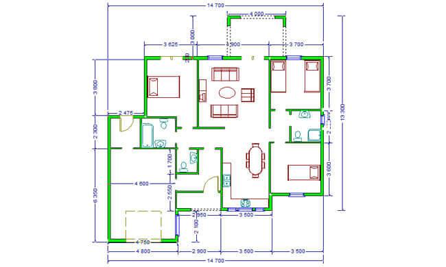 Montažna kuća Maker Majda -osnova