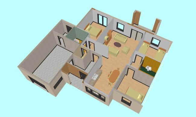 Montažna kuća Maker Majda -presek