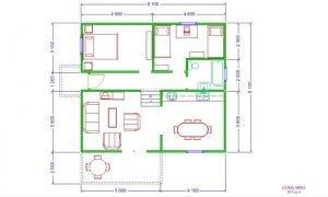 Montažna kuća Maker Mina -osnova