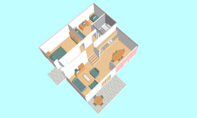 Montažna kuća Maker Mina 86 -presek
