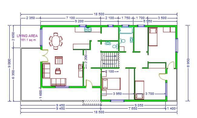 Montažna kuća Maker Miona-osnova