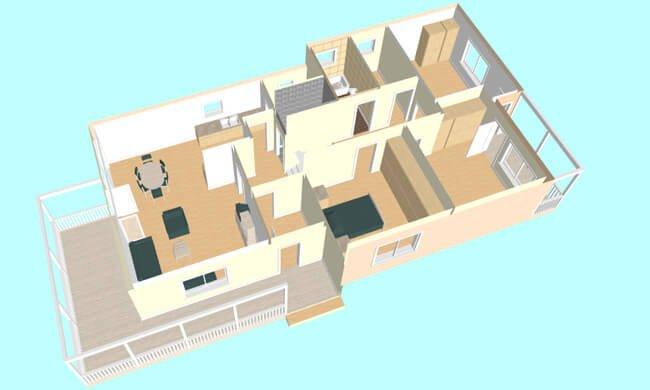 Montažna kuća Maker Miona-presek
