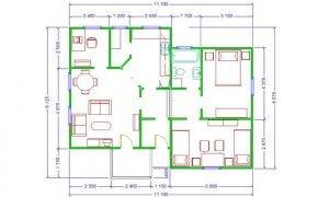 Montažna kuća Maker Mirela-osnova