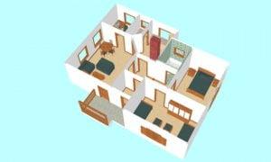 Montažna kuća Maker Mirela-presek