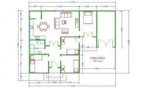 Montažna kuća Maker Mura-osnova