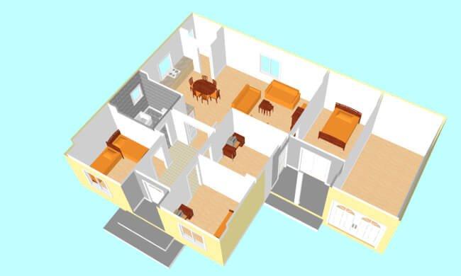 Montažna kuća Maker Mura-presek