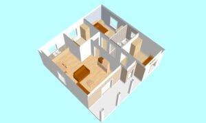 Montažna kuća Maker Nadja-presek