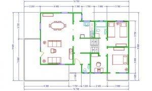 Montažna kuća Maker Nela-osnova