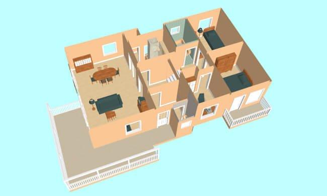 Montažna kuća Maker Nela-presek