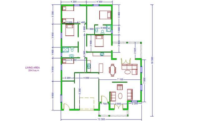 Montažna kuća Maker Nika-osnova