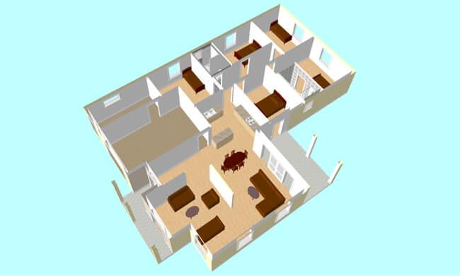 Montažna kuća Maker Nika-presek
