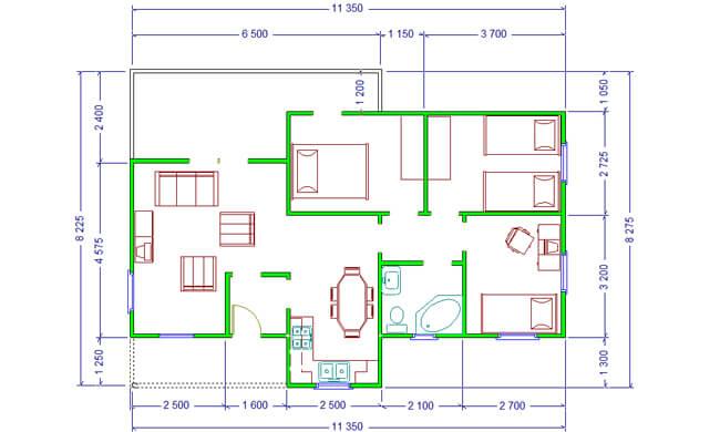 Montažna kuća Maker Nikolina-osnova