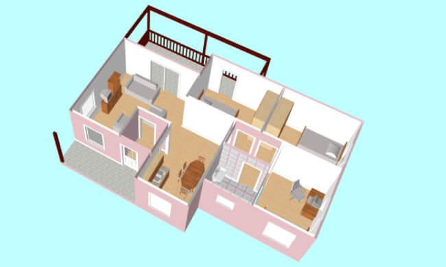 Montažna kuća Maker Nikolina-presek