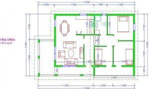 Montažna kuća Maker Nora-osnova