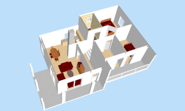 Montažna kuća Maker Nora-presek