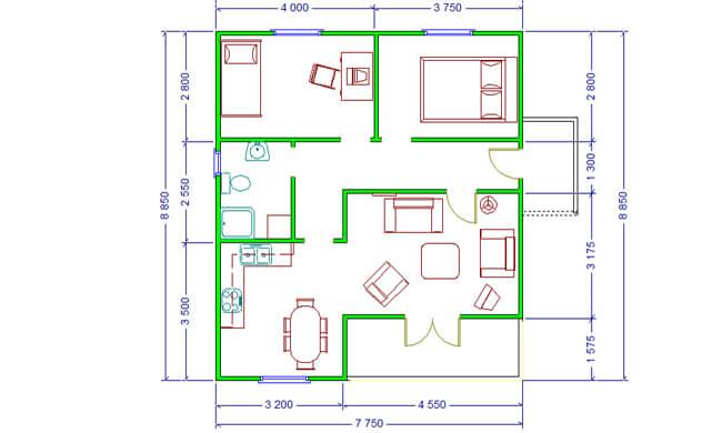 Montažna kuća Maker Penelopa-osnova