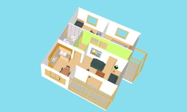 Montažna kuća Maker Penelopa-presek