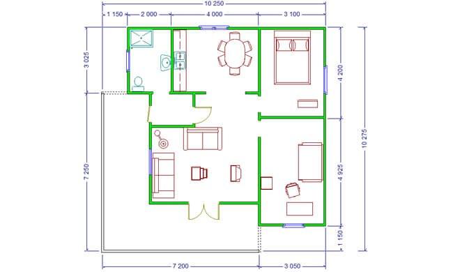 Montažna kuća Maker Santana-osnova