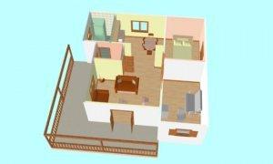 Montažna kuća Maker Santana-presek