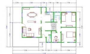 Montažna kuća Maker Sena-osnova