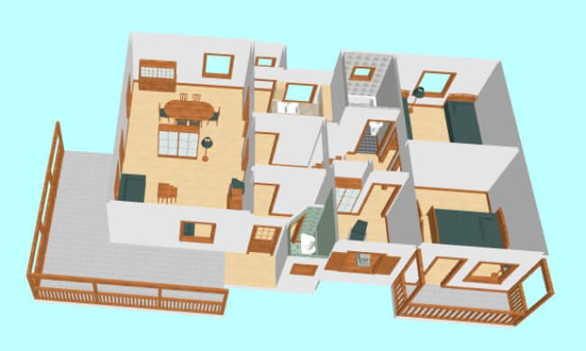 Montažna kuća Maker Sena-presek