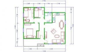 Montažna kuća Maker Sofija-osnova