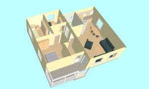 Montažna kuća Maker Sofija-presek