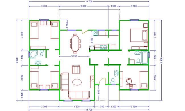Montažne kuće Maker Stefani-osnova