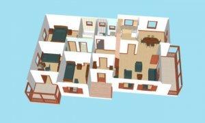 Montažne kuće Maker Talija-presek