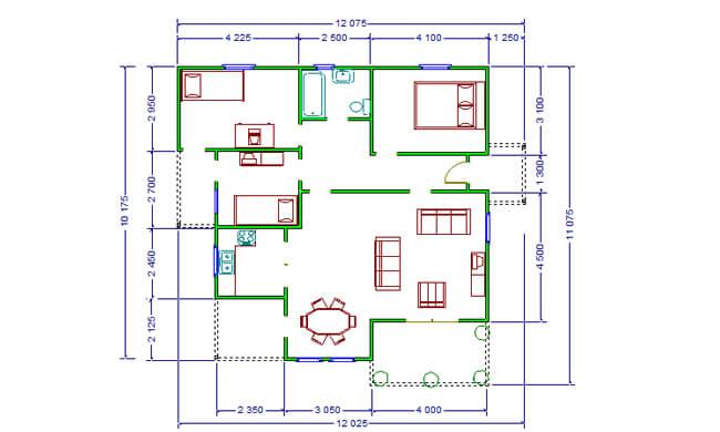 Montažne kuće Maker Tamara-osnova
