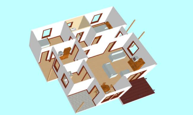 Montažne kuće Maker Tamara-presek