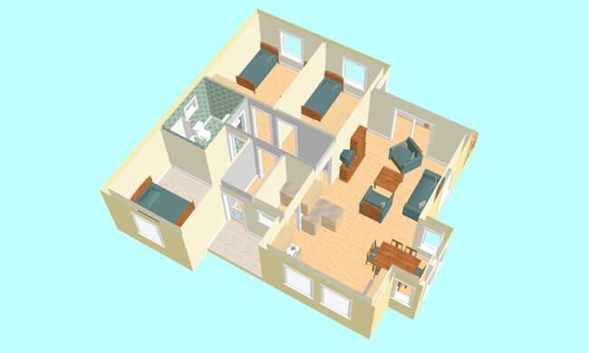 Montažne kuće Maker Una-presek
