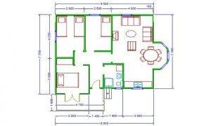 Montažne kuće Maker Vanja-osnova