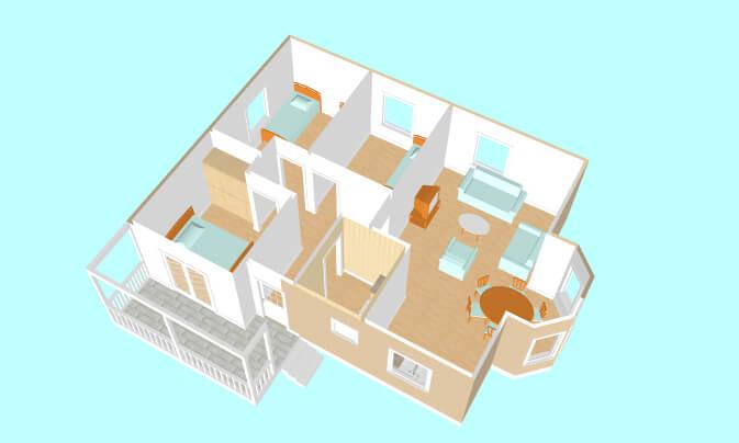 Montažne kuće Maker Vanja-presek