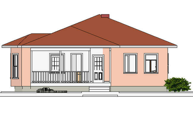 Montažna kuća Maker model Beka tip 133