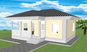 Montažna kuća Maker model Jovana tip 57